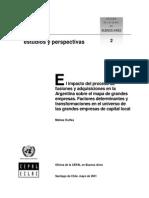 CEPAL - El Impacto Del Proceso de Fusiones en La Argentina