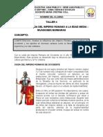 TALLER No 4 CAIDA DEL IMPERIO ROMANO SOCIALES SEPTIMO