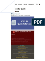Amazon S3 Quick Reference