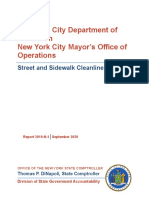 Audit of NYC Department of Sanitation