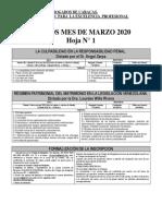 Programación cursos Marzo 2020