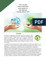 ETICA Y VALORES UNDECIMO -  Ecologia, Ciencia y Arte