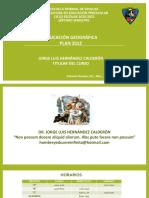 PRESENTACIÓN DEL PROGRAMA EDUCACIÓN GEOGRÁFICA LEP 2012