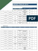 Rol de Examenes Finales 2019-I