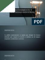 Mantenimiento Y seguridad Industrial
