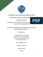 LES FAIBLESSES DE LA FORMATION DES SPÉCIALISTES EN FLE À LA UASD PENDANT LE SEMESTRE 2017-02