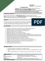 Prasad Cv Sap b1 Functional Consultant