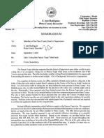 Memo to Board of Supervisors Re Pascua Yaqui 9-3-20