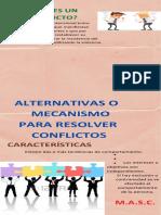 ALTERNATIVAS O MECANISMO PARA RESOLVER CONFLICTOS- INFOGRAFIA