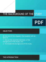CHAPTER 4 BACKGROUND OF THE  STUDY