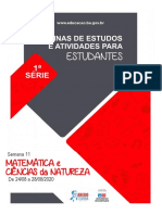 ROTEIRO - NATURAIS E MATEMÁTICA - SEMANA 11 - 24  A 28-08 - 1ª SÉRIE (1)