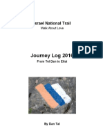Israel National Trail Journey Log 2016