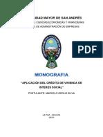 MONOGRAFIA VIVIENDA SOCIAL