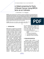 Computer Aided Screening for Early Detection of Breast Cancer Using BRCA Gene as an Indicator