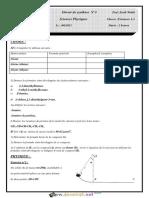 Devoir de Synthèse N°3 - Sciences physiques - 2ème Informatique (2010-2011) Mr Zwidi Walid