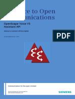 OpenScape Voice V5, Interface Manual_ Volume 8, Assistant API Description, Administrator Documentation, Issue 1_addfiles