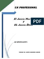 El Juicio Moral Y El Juicio Ético