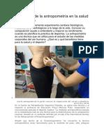 SEMANA 04 LECTURA Beneficios de la antropometría en la salud y el deporte