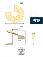 3D Spiral staircase calculator_ Building materials & spiral staircase dimensions calculator online _ perpendicular.pro