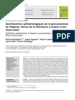manifestaciones oculares de wegener a proposito de una obervacion (francia 2009)