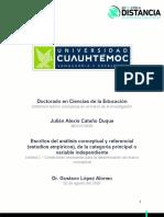 2.2 Escrito del análisis conceptual y referencial (estudios empíricos), de la categoría principal o variable independiente._Cataño_Julián