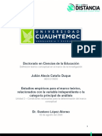 2.1 Estudios empíricos para el marco teórico, relacionados con la variable independiente o la categoría principal de análisis_Cataño_Julián