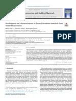 Desarrollo y caracterización de materiales de aislamiento a partir de recursos renovables