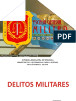 DELITOS MILITARES lista