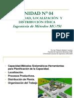 UNIDAD N° 04 Capacidad, Localización y Distribución Fisica