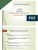 Cours Informatique Faculté de Medecine