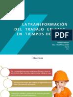 TRANSFORMACION DE TRABAJO EN CASA - RECOMENDACIONES PACIENTES COVID 2020