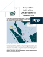 Thayer China and Indonesia's Oil Exploration in Natuna Sea