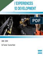 Rapid Development UG Mine - SME2009