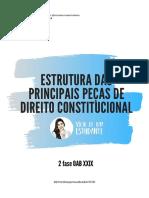 Estrutura das Principais Peças de Direito Constitucional - 2º Fase OAB XXIX - @viciodeumaestudante
