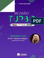 RT31 - Processo Civil - Profª. Tatiane Kipper