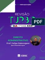 RT31 - Direito Administrativo - Prof. Felipe Dalenogare