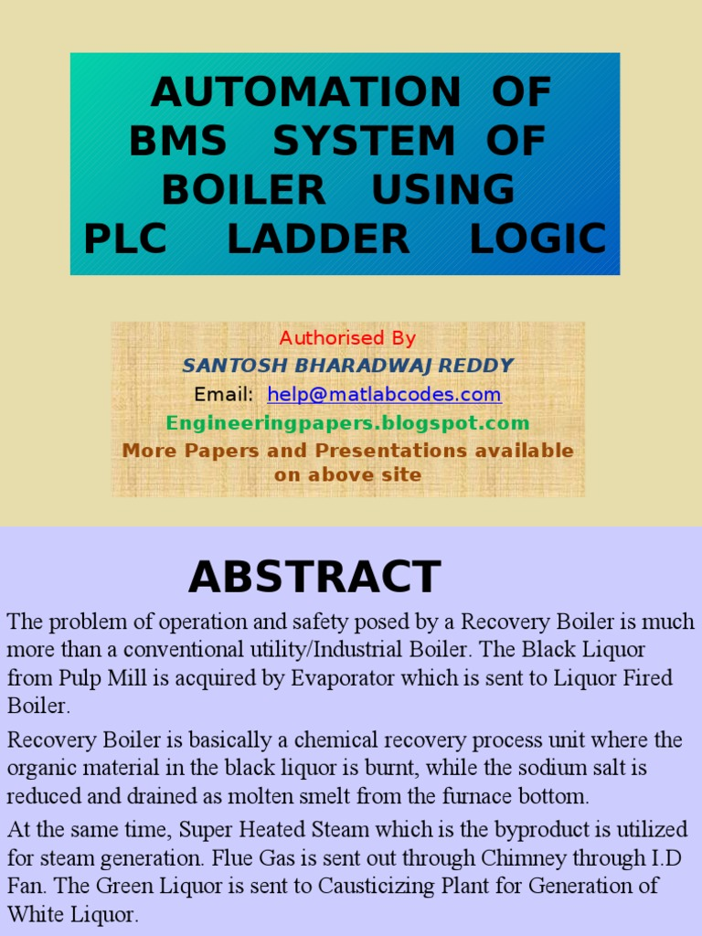 boiler automation using programmable logic control final automation of bms system of boiler using plc ladder logic