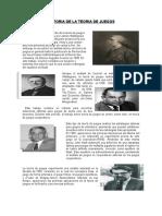 HISTORIA DE LA TEORIA DE JUEGOS