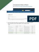 Manual de instalación de Python y Anaconda en Windows