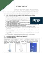 T- 2 - Materiales y reactivos
