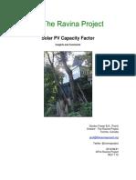 The Ravina Project - Solar Capacity Factor 07 12