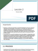 Lección 2 Sistemas Operativos