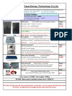 5KW Solar Power System Quotation and Specification