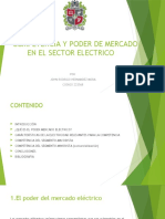 COMPETENCIA Y PODER DE MERCADO EN EL SECTOR