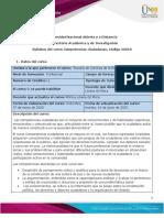 Syllabus del curso Competenicas Ciudadanas