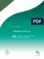 U2-. Solución Numérica de Ecuaciones Algebraicas No Lineales