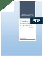 COURS 1 Classification Hypnotiques Barbituriques