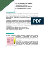 Procesos de centrifugación batch y continuo