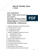Students, Teachers, And Textbook Conception of the Physics of Sound