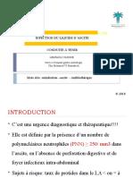 INFECTION DU LIQUIDE D'ASCITE (2)